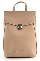Прочный стильный оригинальный женский рюкзачок сумка с очень качественной эко кожиart. нежно розовый Украина