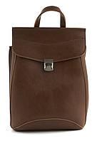 Прочный стильный оригинальный женский рюкзачок сумка с очень качественной эко кожиart. коричневый Украина