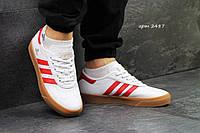 Мужские кроссовки Adidas  Adi-Ease Universal ADV, белые с красным / кроссовки Адидас Еди-Изи Универсал АДВ