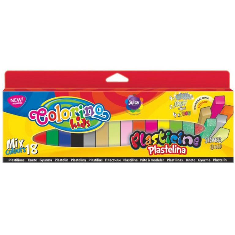 Пластилин детский Colorino 57424PTR 18цветов квадратный