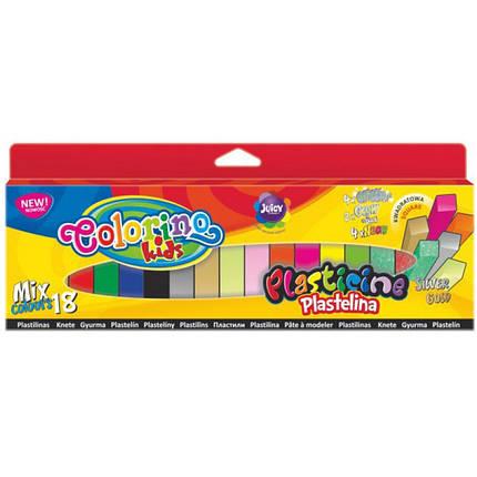 Пластилин детский Colorino 57424PTR 18цветов квадратный                                                                                               , фото 2