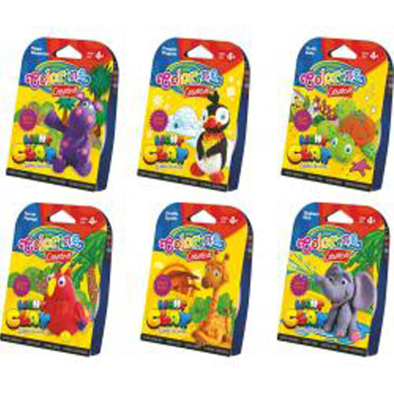 Пластилиновая паста Colorino 68574PTR Zoo 6 диких животных