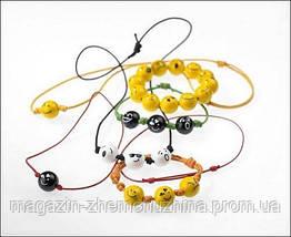 Детский браслетик-бусы смайлики, фото 3