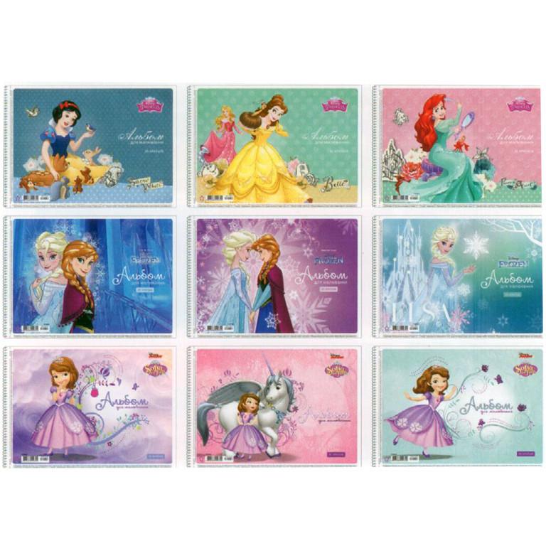 "Альбом для рисования Star PB-SC-030-142 30ар А4 спир глит ""Disney"" карт/обкл"