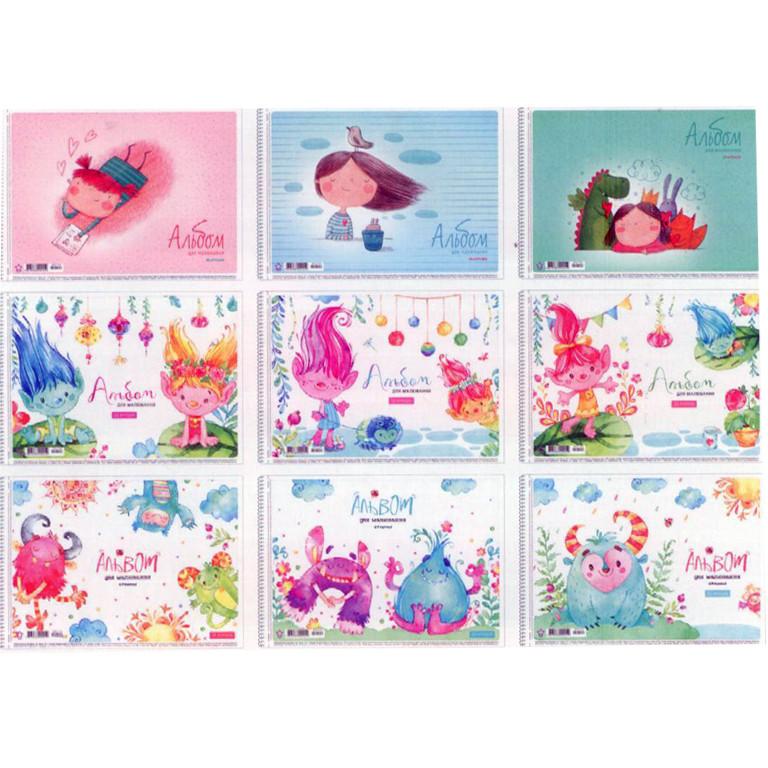 Альбом для рисования Star PB-SC-020-144 20ар А4 спир выб УФ лак карт/обкл