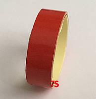 Светоотражающая лента на самоклейке, 5х1245 мм Красный