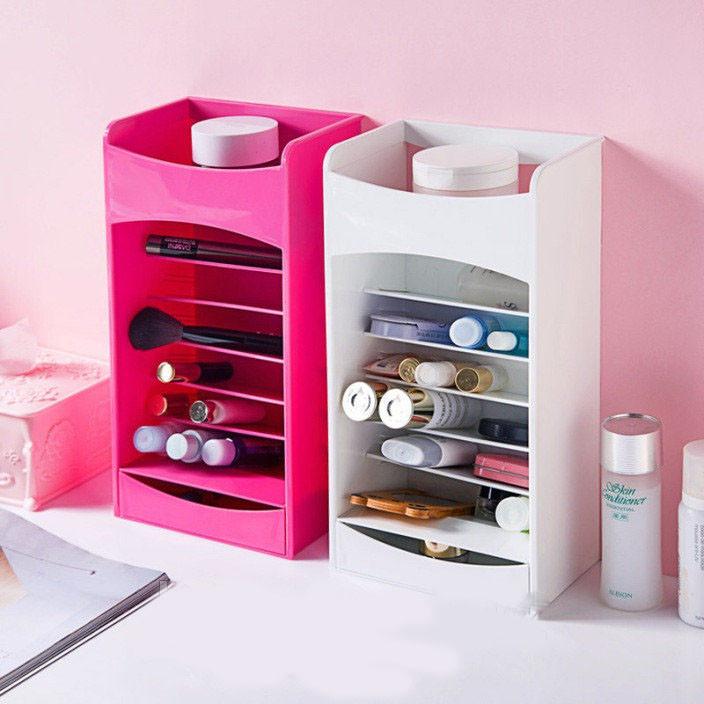 Картинки по запросу Органайзер для хранения косметики и лаков Cosmake Lipstick & Nail Polish Organizer Розовый