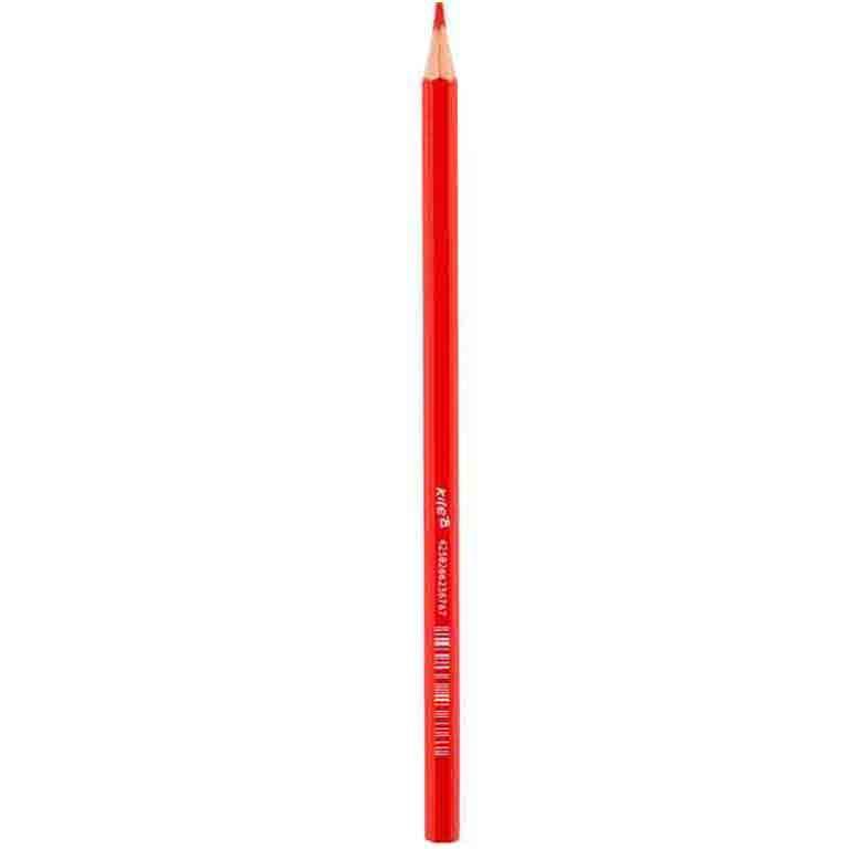 Карандаши цветные Kite K17-1051-06 красный 1шт шестигр