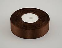 Лента атлас 1.2 см, 33 м, № 177 коричневая