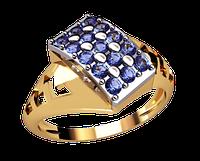 Женское золотое кольцо Океан