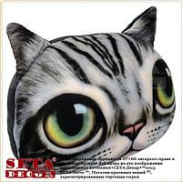 """Подушка - антистресс """"Кошка"""" из силиконовыми шариками серая"""