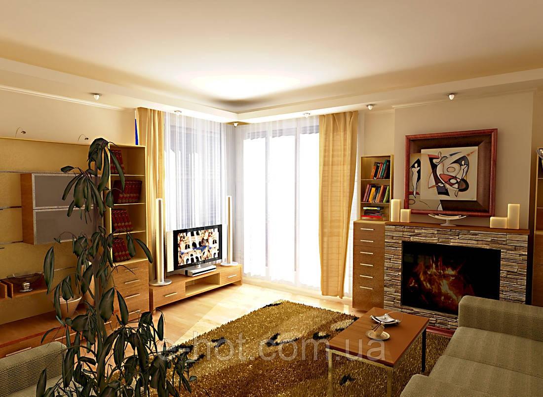 Дизайн проект гостиной, Гостиная 37