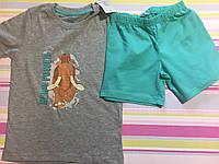 Набор футболка и шорты детские на мальчика 2-4 года.