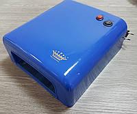 УФ лампа c МЕТАЛЛИЧЕСКИМИ отражателями для сушки геля, гель-лака Master MPL-818A на 36 Вт, синяя, фото 1