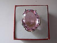 Кольцо розовый кунцит.Овал 22 х 18 мм,17.5 р,925,Индия-ЭКСКЛЮЗИВ