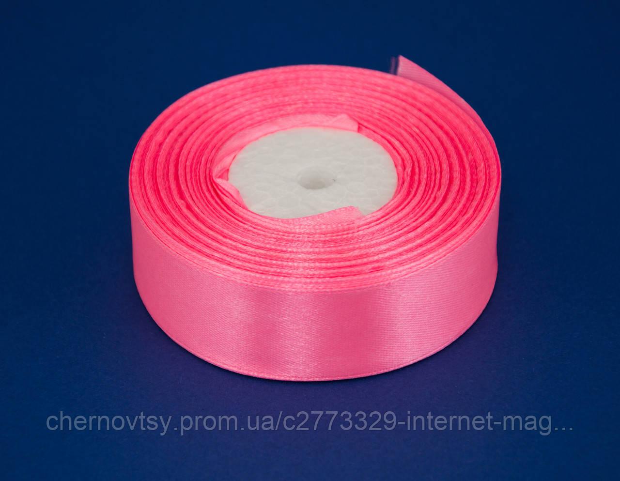 Стрічка атлас 2 см, 33 м, № 05 Рожева