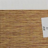 Рулонные шторы День-Ночь Ткань Женева ВМ-11 Орех