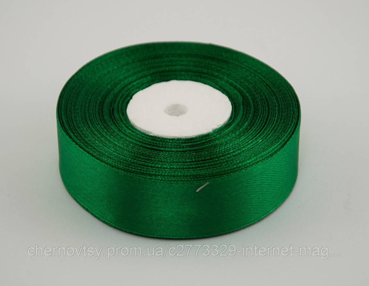 Стрічка атлас 2 см, 33 м, № 19 Зелена