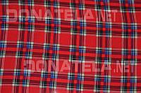 Ткань сорочечная шотландка красный квадрат