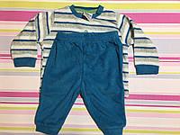 Пижама детская махровая для мальчика Impidimpi, 2-6 мес