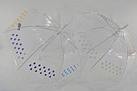 """Прозрачный зонтик трость с проявляющимися каплями от фирмы """"Smile"""""""