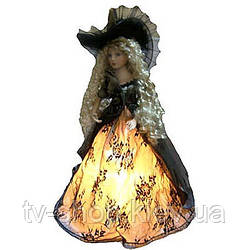 Лялька-світильник фарфорова