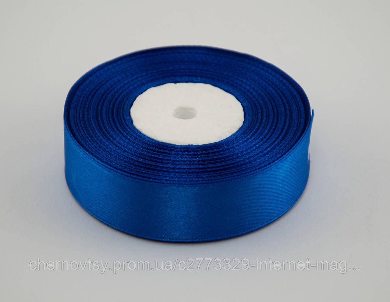Стрічка атлас 2 см, 33 м, № 40 Синя