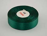 Лента атлас 2 см, 33 м, № 56 темно зеленая