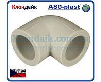 Полипропиленовый угол Ø40х90° ASG-Plast (Чехия)