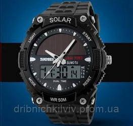Мужские Спортивные Часы Skmei Solar Черные (Код 076)