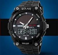 Мужские Спортивные Часы Skmei Solar Черные (Код 076), фото 1