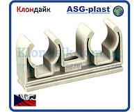 Крепеж Двойной Для Полипропиленовой Трубы Ø25 Asg-Plast (Чехия)