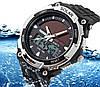 Мужские Спортивные Часы Skmei Solar Черные с серебряным (Код 076)