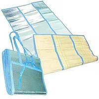 Подстилка пляжная бамбук сумочка 90х160см