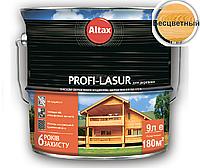 Лазурь-лак алкидный с воском ALTAX PROFI-LASUR для деревянных фасадов бесцветный, 9л