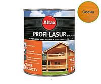 Лазурь-лак алкидный с воском ALTAX PROFI-LASUR для деревянных фасадов сосна, 0,75л