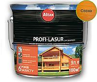 Лазурь-лак алкидный с воском ALTAX PROFI-LASUR для деревянных фасадов сосна, 9л