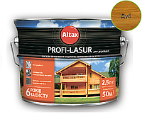 Лазурь-лак алкидный с воском ALTAX PROFI-LASUR для деревянных фасадов дуб, 2,5л
