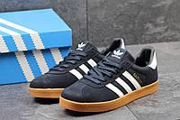 Мужские кроссовки Adidas Gazelle, замш, темно синие / кроссовки для зала мужские Адидас Газель, модные