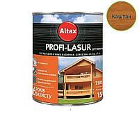 Лазурь-лак алкидный с воском ALTAX PROFI-LASUR для деревянных фасадов каштан, 0,75л