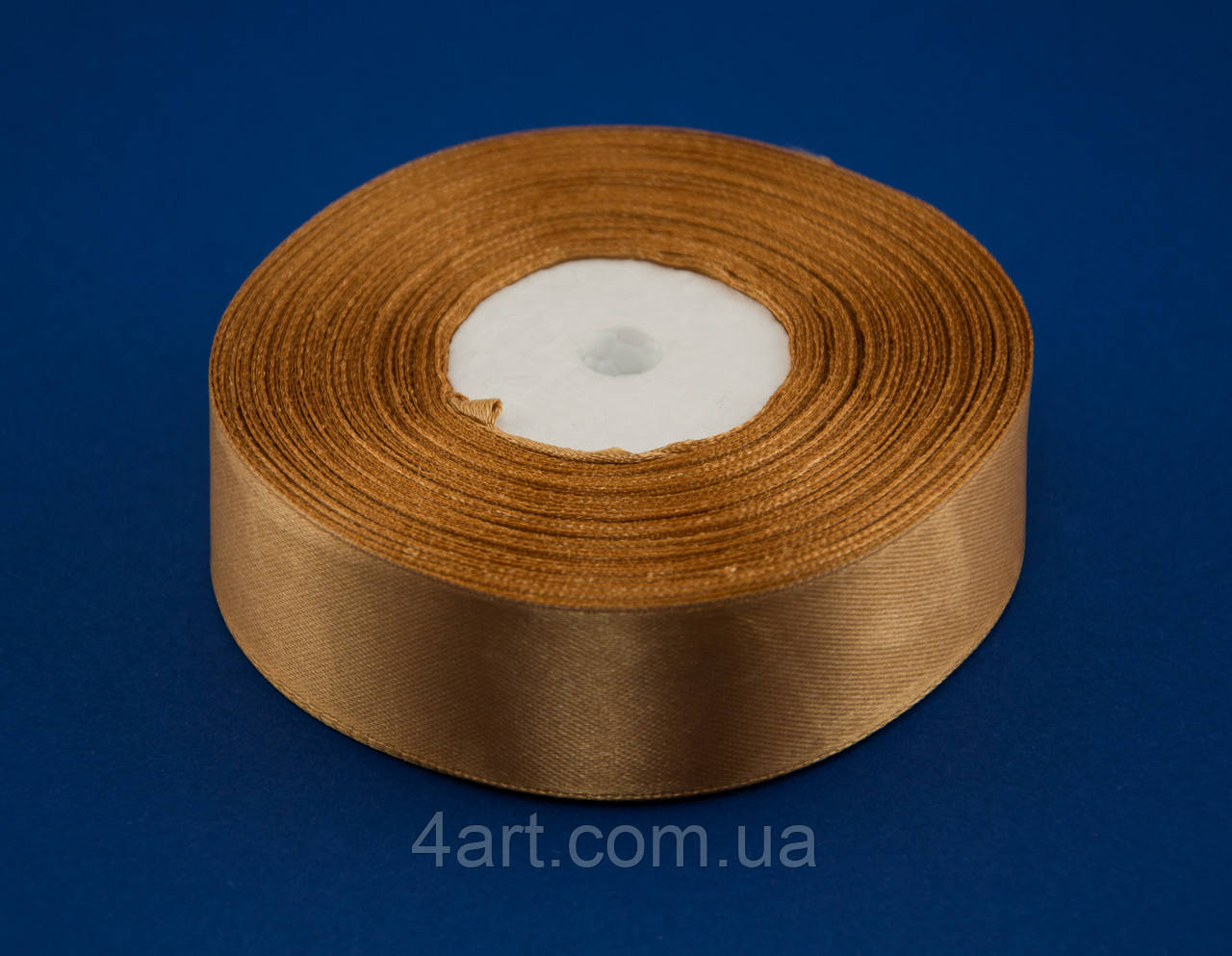 Лента атлас 2 см, 33 м, № 157 золотистая