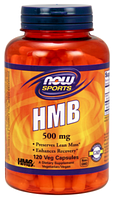 Гидроксиметилбутират, HMB, Now Foods, HMB 500mg, 120 caps