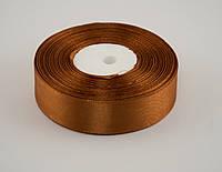 Лента атлас 2 см, 33 м, № 158 темно золотистая
