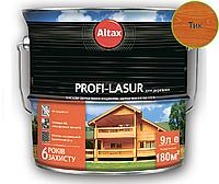 Лазурь-лак алкидный с воском ALTAX PROFI-LASUR для деревянных фасадов тик, 9л