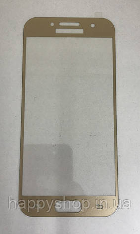 Защитное 3D стекло для Samsung A320 (A3-2017) (Gold), фото 2