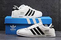 Мужские кроссовки Adidas Gazelle, пресс кожа, белые / бег кроссовки мужские Адидас Газель, модные