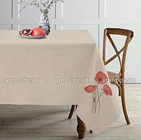 Скатерть льняная с вышивкой ТМ Ярослав, 150х225 см