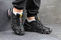Мужские кроссовки Salomon Speedcross 3, нубук + текстильная сетка, черные /кроссовки мужские Саломон Спидкросс