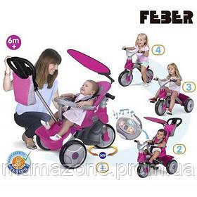 Велосипед трехколесный 3 в 1 Easy Evolution Feber 9561 розовый