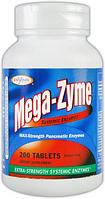 Пищеварительные и системные энзимы, Enzymatic Therapy Mega-Zyme 200 tabs